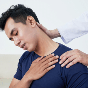 young man getting neck pain treatments